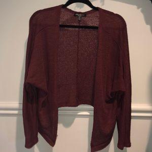 Sweaters - Burgundy Cardigan !